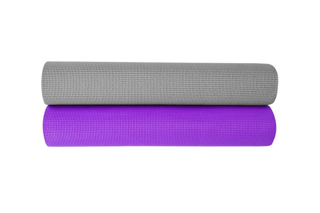 Мат для тренувань 5мм (сірий, фіолетовий) / Мат тренировочный, 5 mm (серый, фиолетовый)