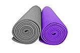 Мат для тренувань 5мм (сірий, фіолетовий) / Мат тренировочный, 5 mm (серый, фиолетовый), фото 2