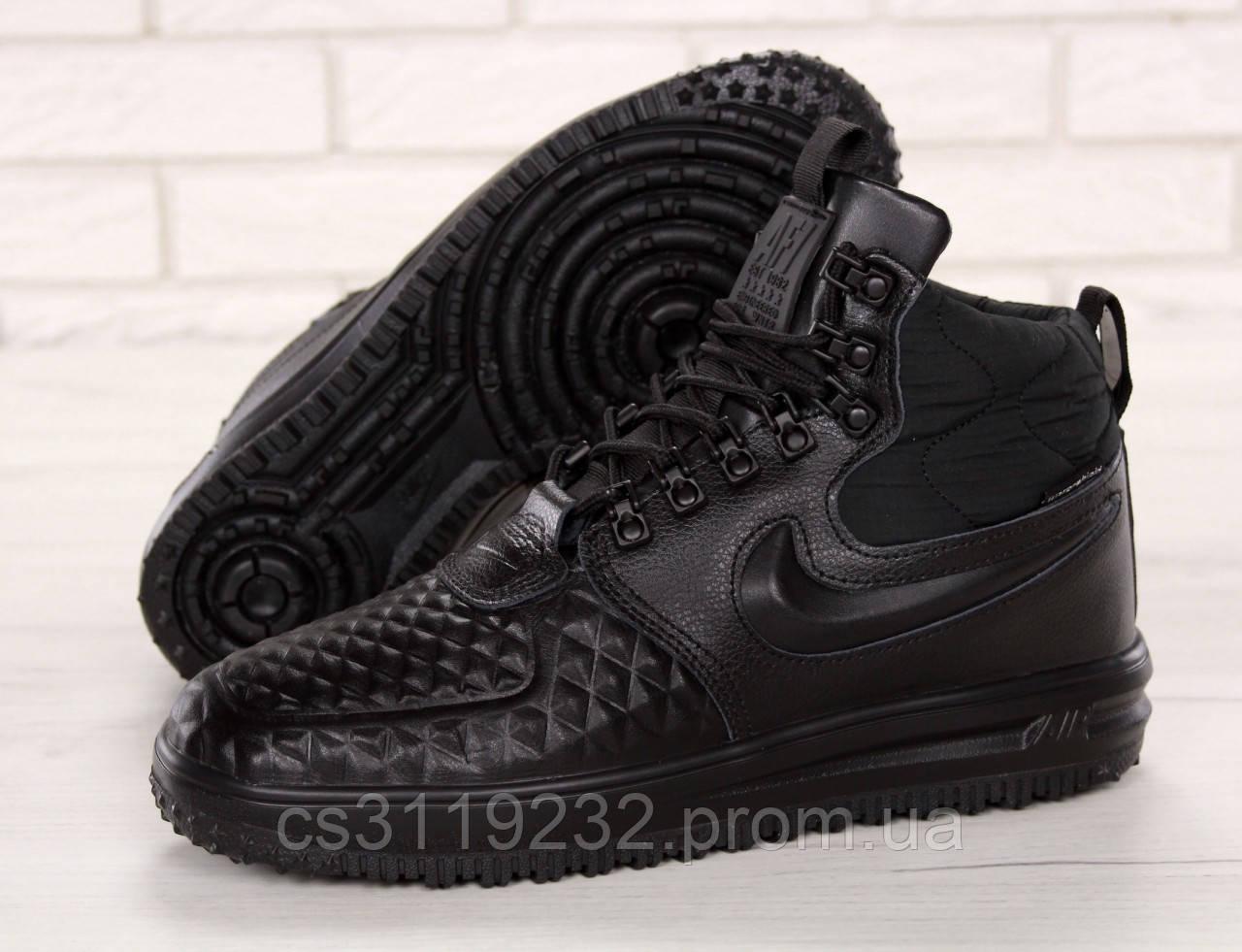 Женские кроссовки Nike Lunar Force 1 Duckboot '17 Black (черные)