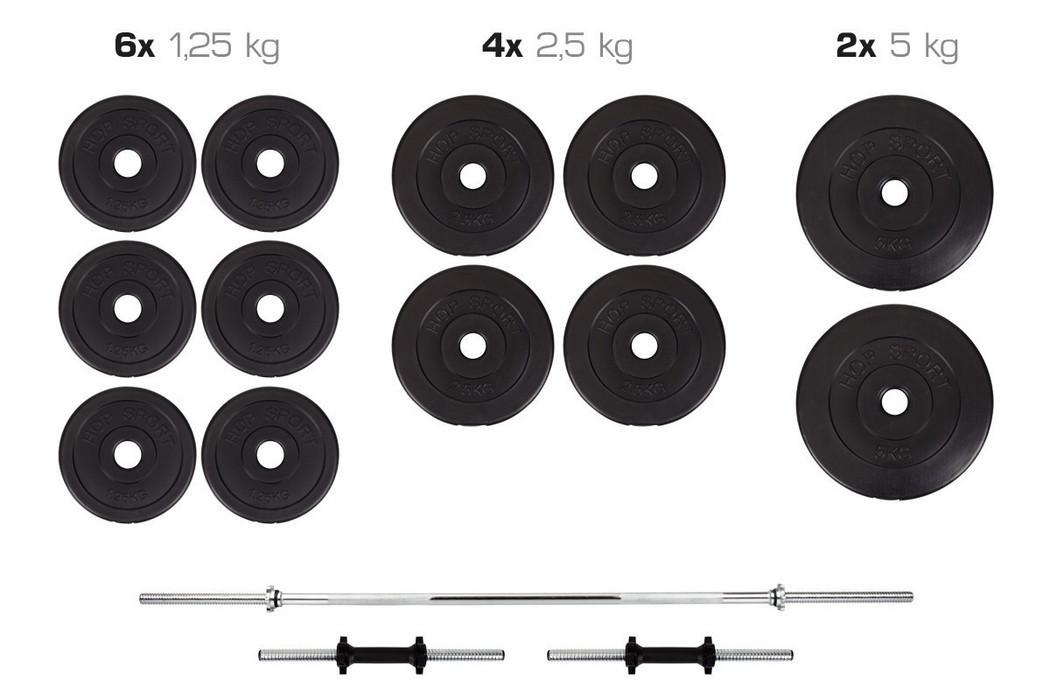 Набор Premium штанга и гантели 36 кг