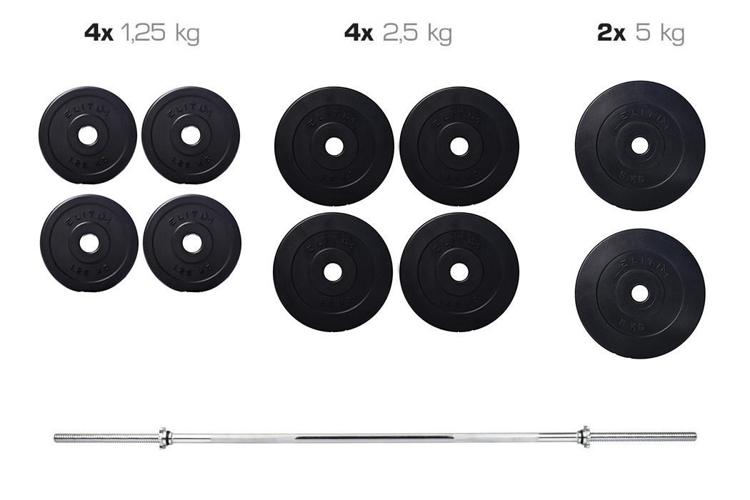 Набор TITAN штанга и гантели 33кг со скамьей HS 1020 + пульт(парта) + тяга