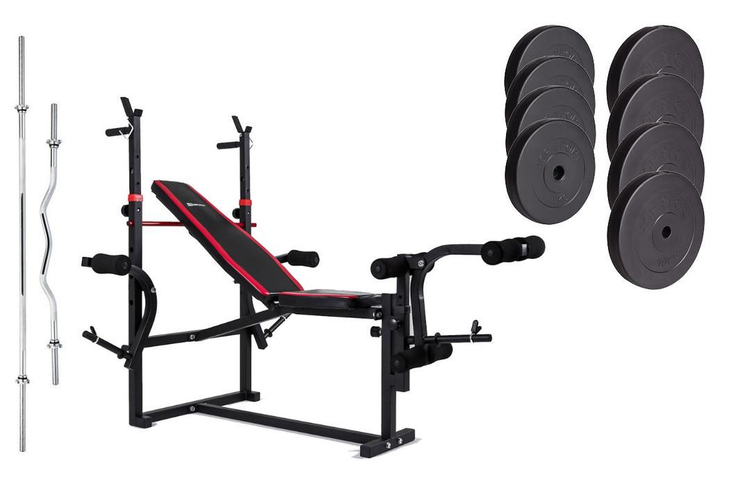 Набор Premium 74 кг со скамьей HS-1070