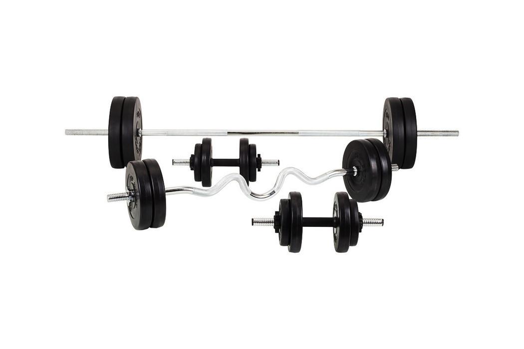 Набор Premium 91 кг со скамьей HS-1070 с тягой и партой