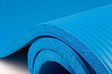 Мат для фітнесу Hop-Sport 1см (блакитний) / Мат для фитнеса Hop-Sport HS-4264 1 см Sky Blue, фото 3