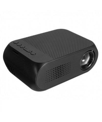 Мультимедийный портативный мини проектор Projector LED YG-320 Mini Black 700 lumen