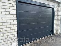 Секционные гаражные ворота DoorHan 3000×2000 (цвет антрацит), фото 2
