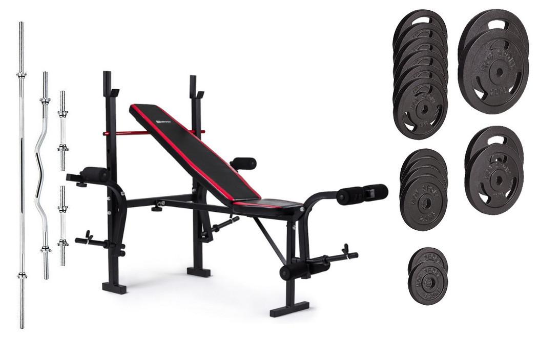 Набор Strong 129 кг со скамьей HS-1055