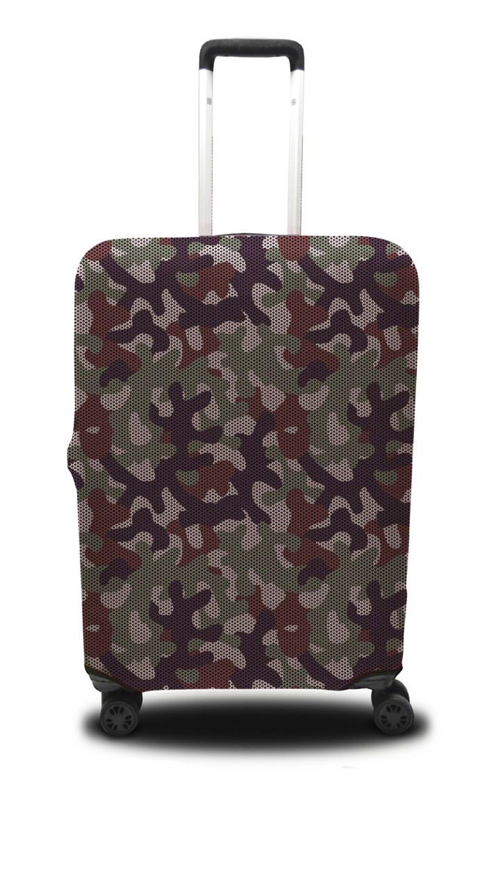Чохол для валізи хакі, зелений /Чехол для чемодана Coverbag  хаки M зеленый