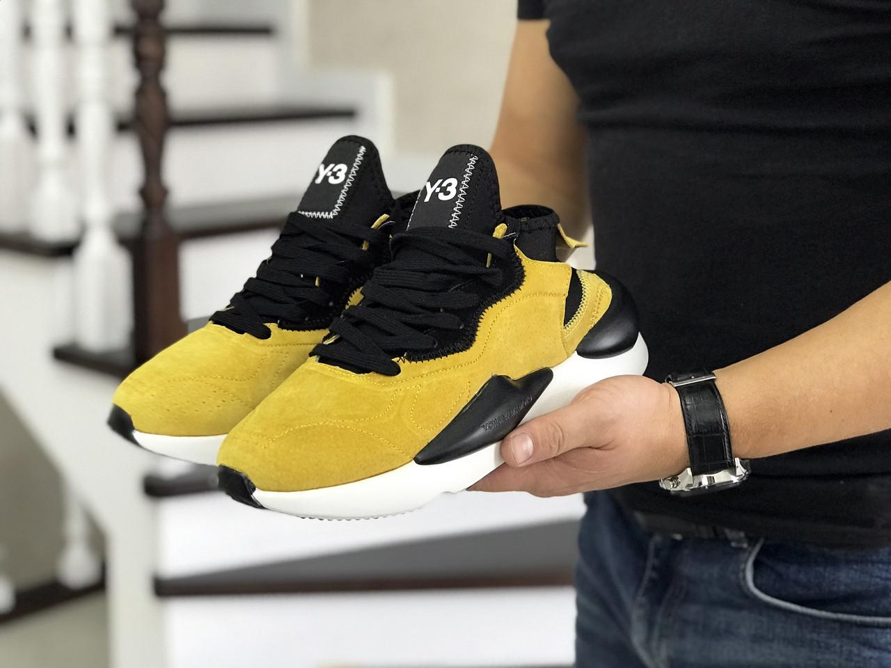 Мужские кроссовки эко замша желтые