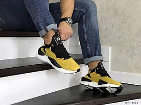 Мужские кроссовки эко замша желтые, фото 2