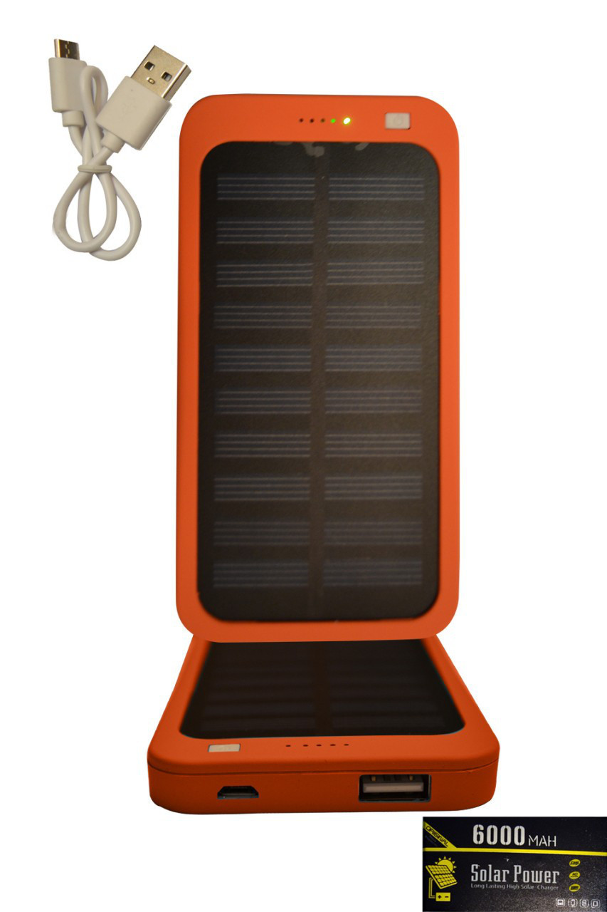 Power bankSOLAR SlIM6000 mAh оранжевый