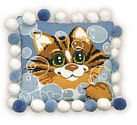 """Набор для вышивания подушки """"Кот"""""""