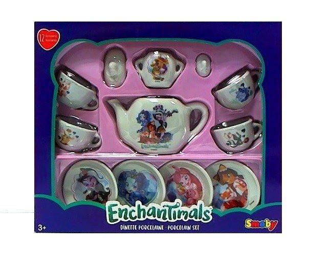 Игровой набор Чайный керамический сервиз Enchantimals Smoby 310579