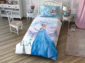 Детское подростковое постельное белье TAC Frozen Cek Ранфорс