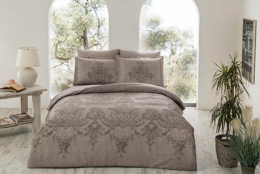 Двуспальное евро постельное белье TAC Romaine Tas Сатин-Delux