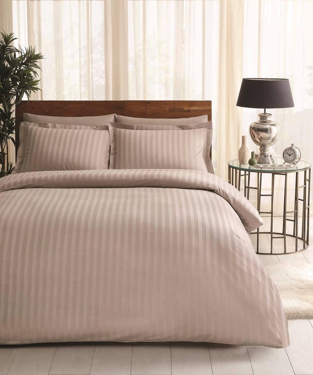 Двуспальное евро постельное белье TAC Place Vizon Сатин-Жаккард