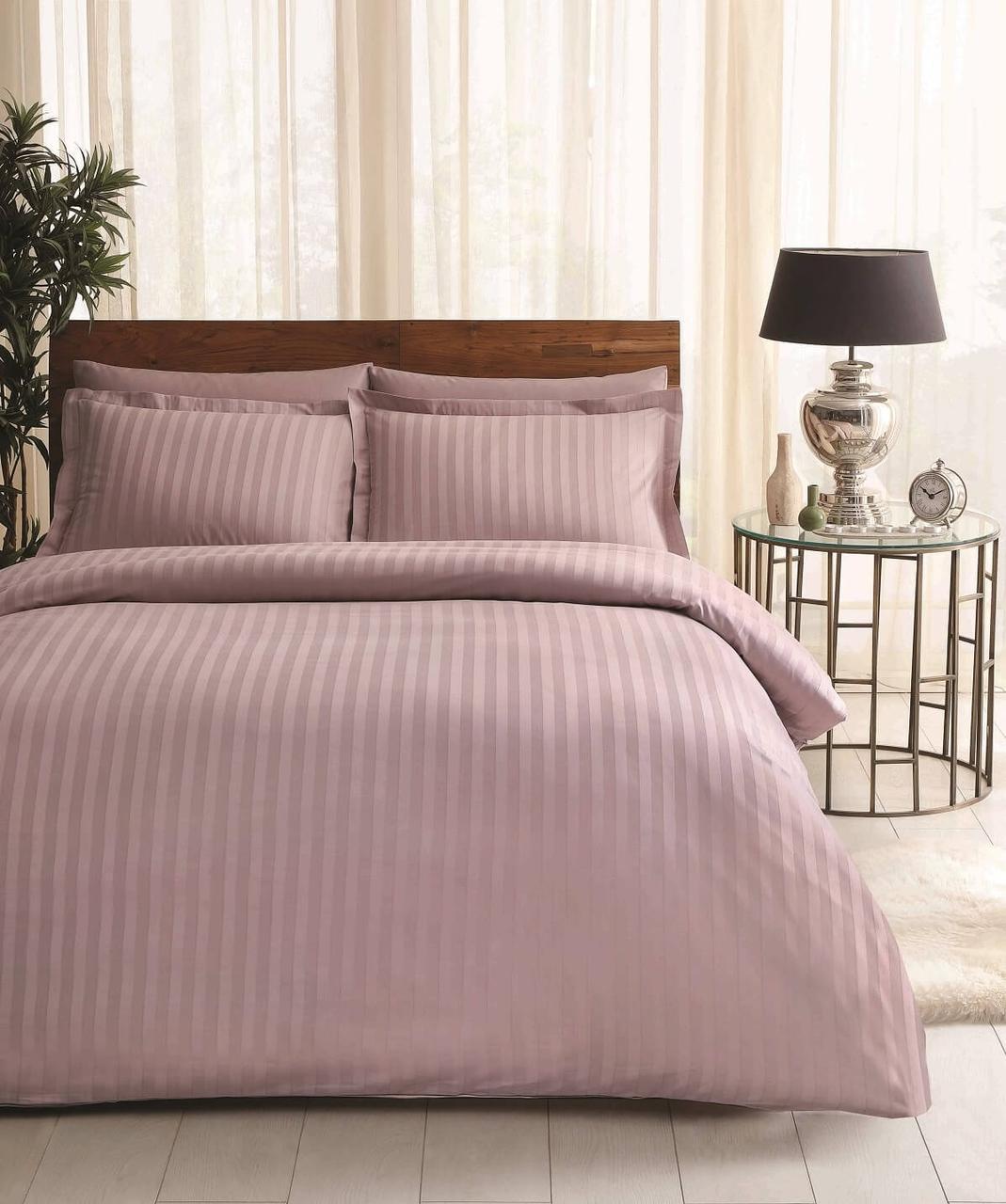 Двуспальное евро постельное белье TAC Place Lilac Сатин-Жаккард