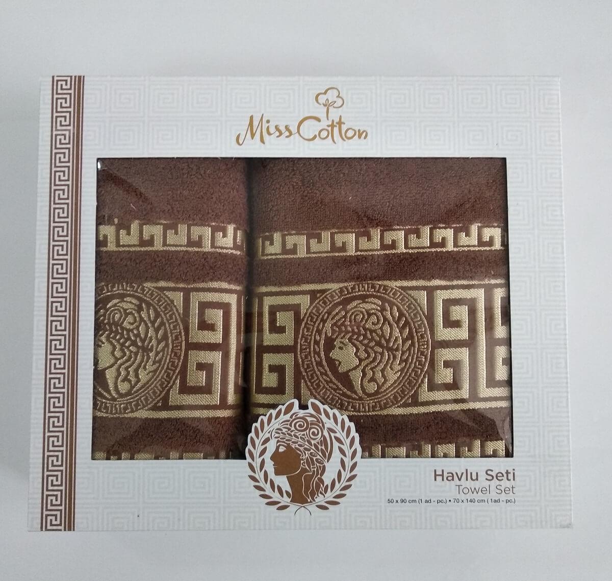 Набор хлопковых полотенец Miss Cotton арт.9001 70×140см+50×90см / цвет на выбор