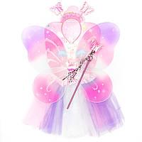 Карнавальный набор - юбочка, крылья, тиара, волшебная палочка (513597-1)