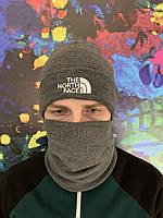Теплая зимняя шапка, черная, серая, тепла шапка