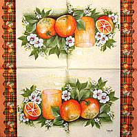Коллекционная салфетка для декупажа Mamiko Yamashita Апельсины 1400