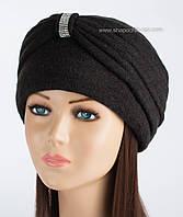 Оригинальная женская шапка-чалма Kartazon-18 черная