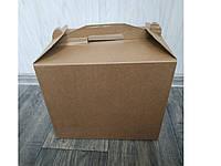 Картонная коробка для торта Крафт 300*300*255 мм без окна