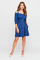 Красивое женское платье, р. от 42 до 48, синее с открытыми плечами