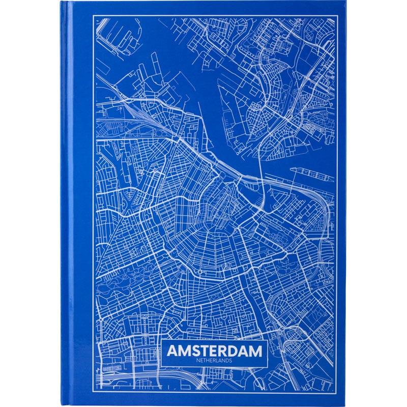 Тетрадь А4 Axent Maps Amsterdam 96 л клетка, синяя 8422-507-A