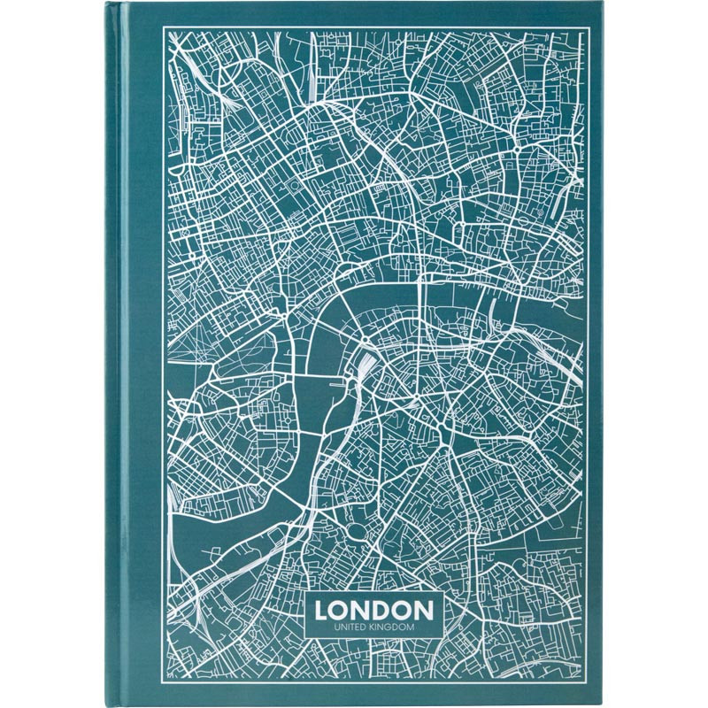 Тетрадь А4 Axent Maps London 96 л клетка, синяя 8422-516-A