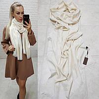 Женский палантин шарф брендовый репликаLouis Vuitton65% шелк 35% кашемир размер 190×0.70 см цвет молочный, фото 1