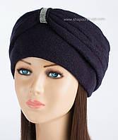 Красивая женская шапка-чалма Kartazon-18 синяя