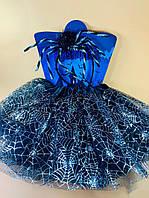 """Карнавальный детский костюм """"Паук"""" черный с серебром  - карнавальный костюм для девочки"""