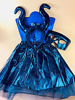 """Дитячий карнавальний костюм """"Малефисента"""" 3 предмета - карнавальний костюм для дівчинки, фото 1"""