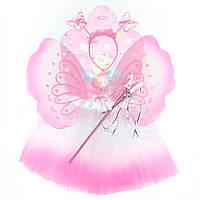 Карнавальный костюм БАБОЧКА - юбочка, крылья, тиара, волшебная палочка (513573-1)