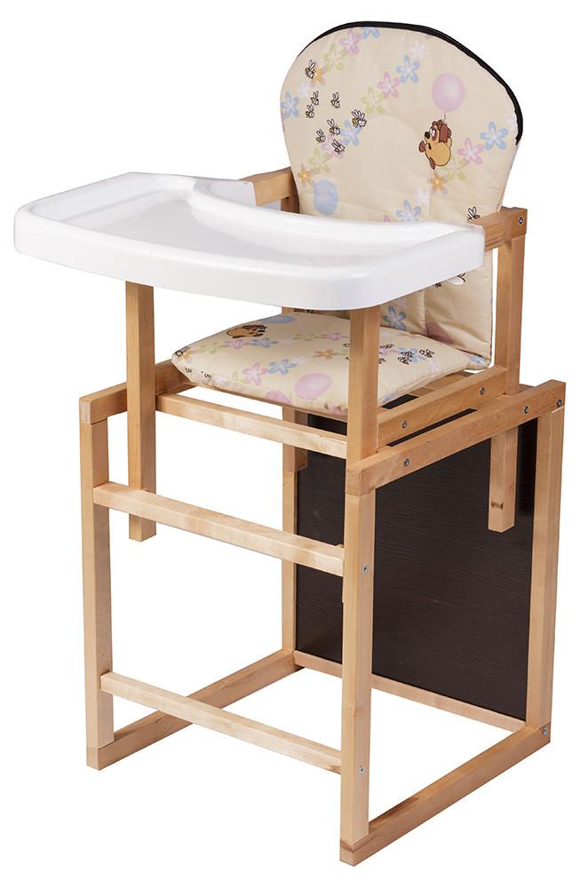 Стульчик- трансформер Babyroom Пони-210 лакированный пластиковая столешница  бежевый (винни пух)