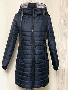 Женская удлиненная демисезонная куртка, размеры 46-54