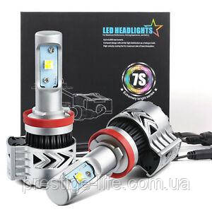 Cветодиодная лампа 7S-H11 LED 12-24v/8000Lm/6500K (2шт)