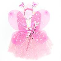 Карнавальный набор - юбочка, крылья, тиара, волшебная палочка (513559-1)