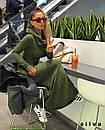 Женское длинное платье хомут теплое трехнить флис 24-70 размера, фото 5