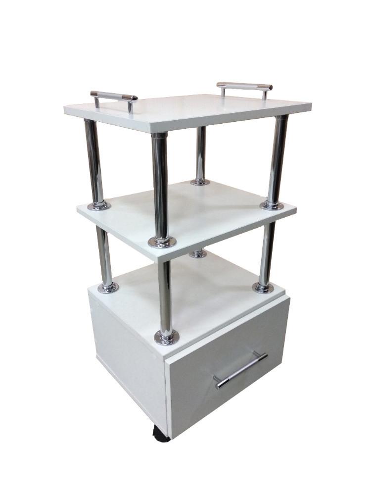 Стол-тележка косметологическая с выдвижным ящиком  Миа - 2 (+две ручки)