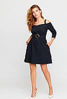 Стильное женское платье, р. от 42 до 48, чёрное с открытыми плечами