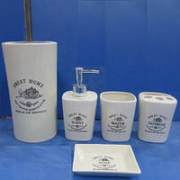 Набор аксессуаров для ванной Stenson MC2869 6 предметов White