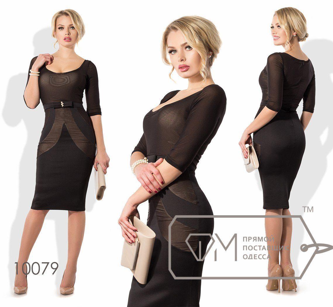 """Великолепное женское платье ткань """"Дайвинг"""" 42 размер норма"""