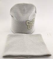 Оптом шапка детская с 52 по 58 размер хомутом ангора теплые шапки головные уборы детские опт, фото 1