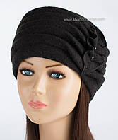 Зимняя женская шапка Kartazon-09 черная