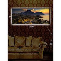 Световая картина настенная с Led-подсветкой IdeaX Каменные валуны 29х69 см