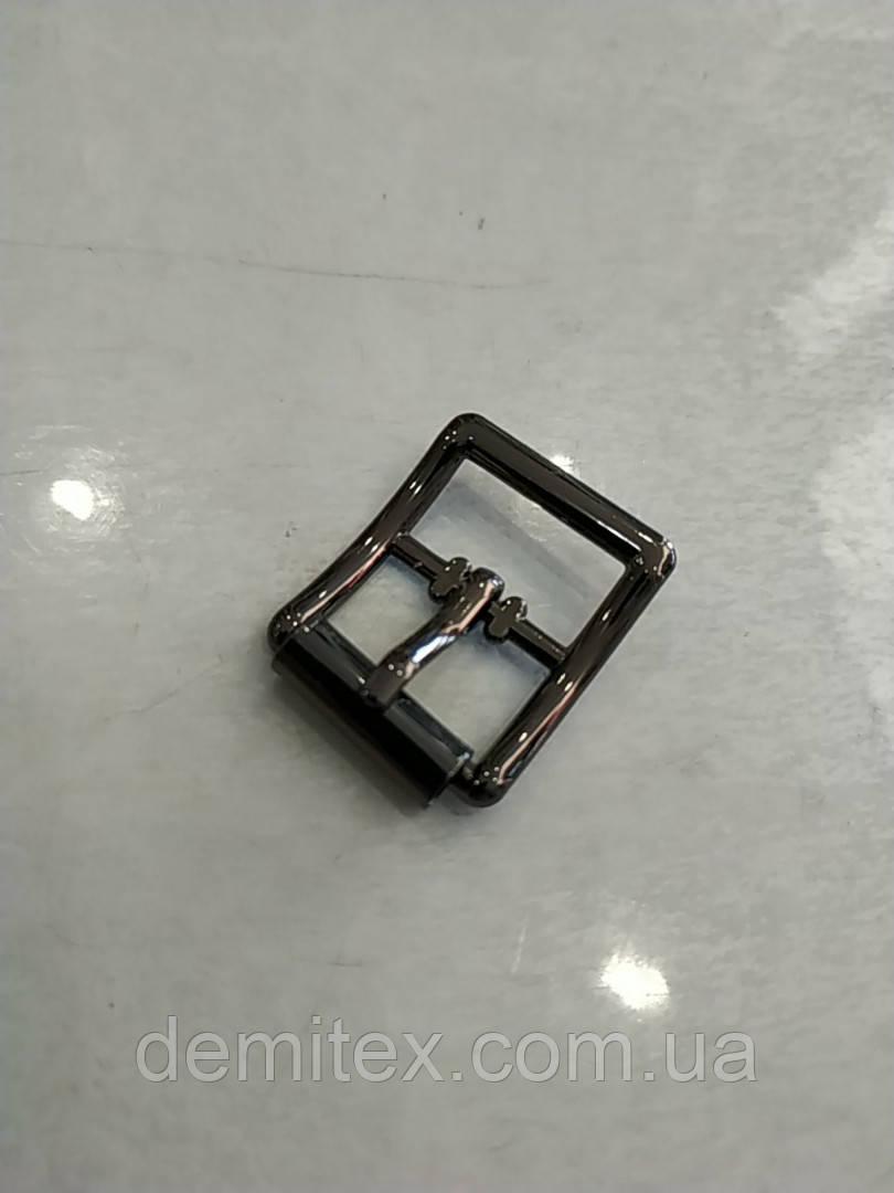 Пряжка взуттєва 15мм чорний нікель