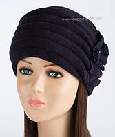 Красивая женская шапка Kartazon-09 синяя
