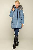 Куртка женская батал размеры 46-56 цвет голубой